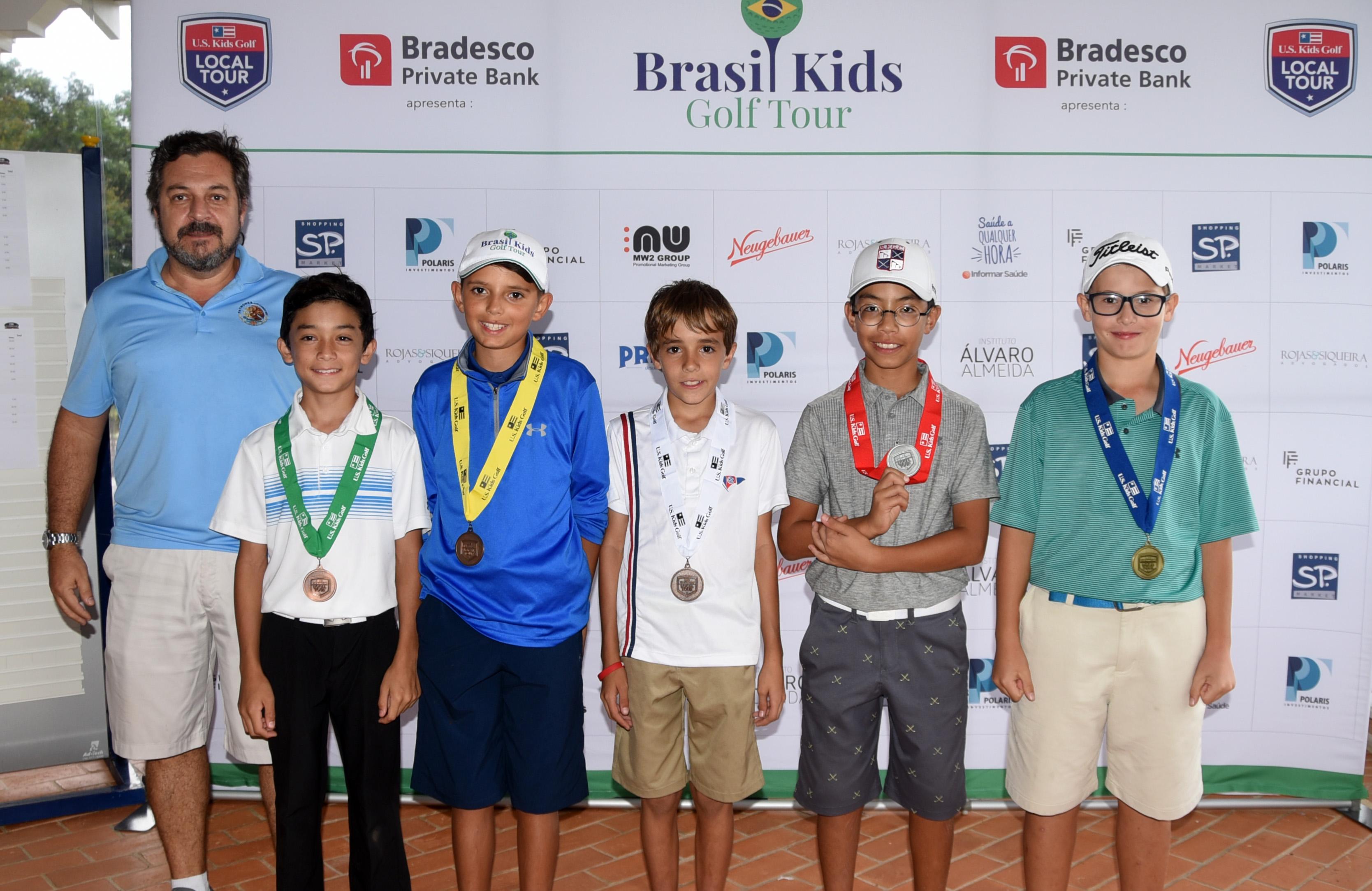 Campeões do Brazil Kids Golf Tour 2018 nas etapas do Fazenda Grama e Baroneza
