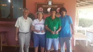 Ana Huscher e Antonio José Abreu - prêmio de naer pin