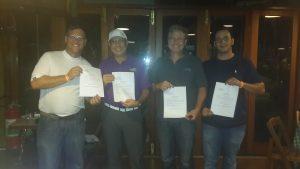 Marcos Gottschalk, Mario Mafra, Juarez Mascarello e Daniel Jesus