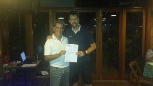 Fernando Vieira e Renê Marzagão, ganhador do pacote da Golf Travel