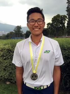 Lucas Park, vice-campeão juvenil sul-americano de golfe
