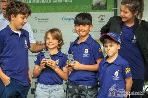 Jovens golfistas