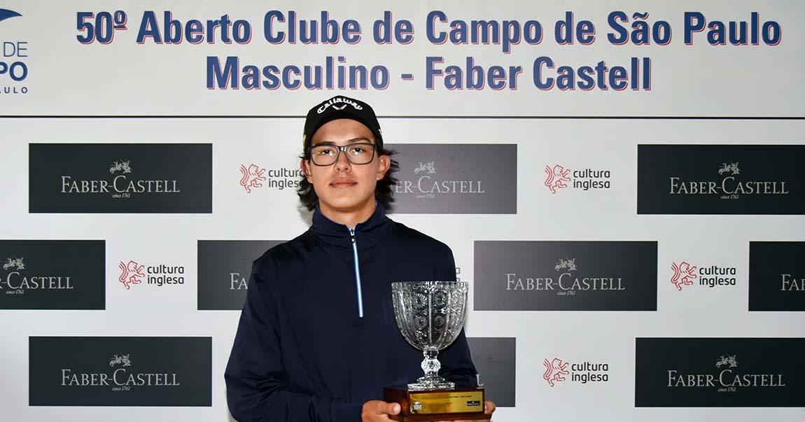 Guilherme Grinberg vence o Aberto do Clube de Campo Faber-Castell