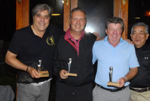 Vice-campeões: Antequeira, Brunetti e Candido