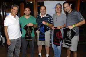 Fernando Vieira, Lucas Kirstus, Fábio Seta, Roberto Forestieri e Luiz Coimbra Foto: Zeca Resendes/APG