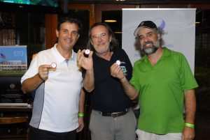 Hole in one: Mauro, Marcos e Zeca