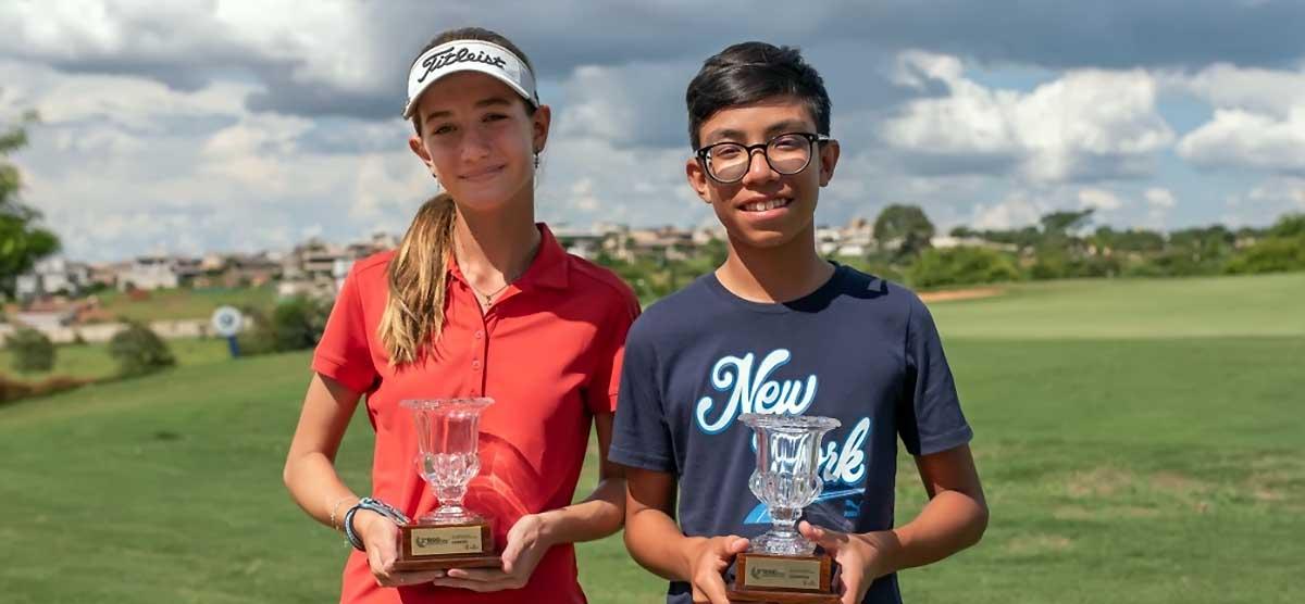 Pedro Miyata e Isadora Fernal vencem Torneio Juvenil de SP, no Quinta do Golfe