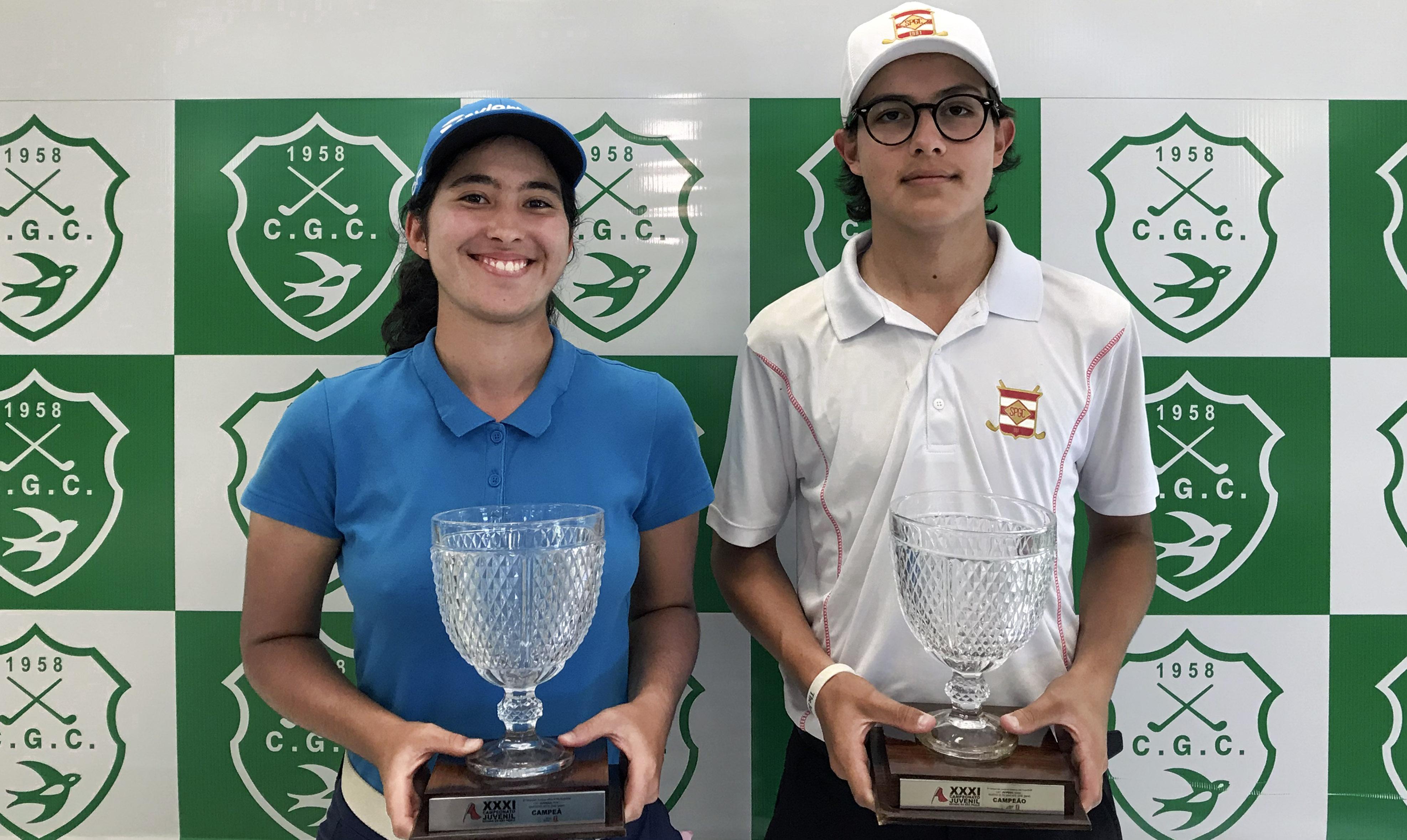 Guilherme Grinberg e Laura Caetano são campeões do Campeonato Juvenil do Estado de São Paulo