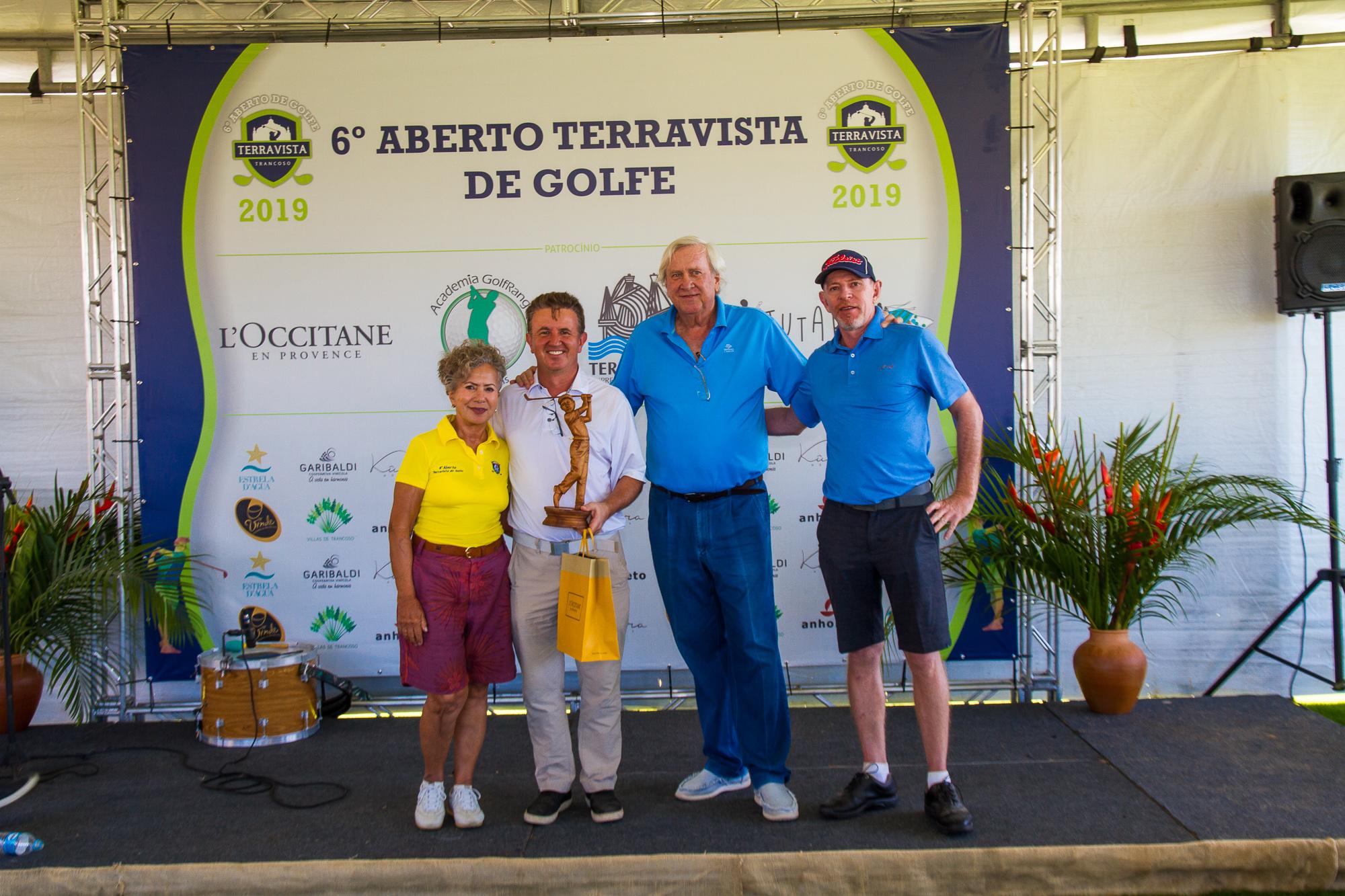 Paul O'Doherty, do São Paulo Golf Club e Rossana Marini, do Alphavile Graciosa, vencem em Trancoso