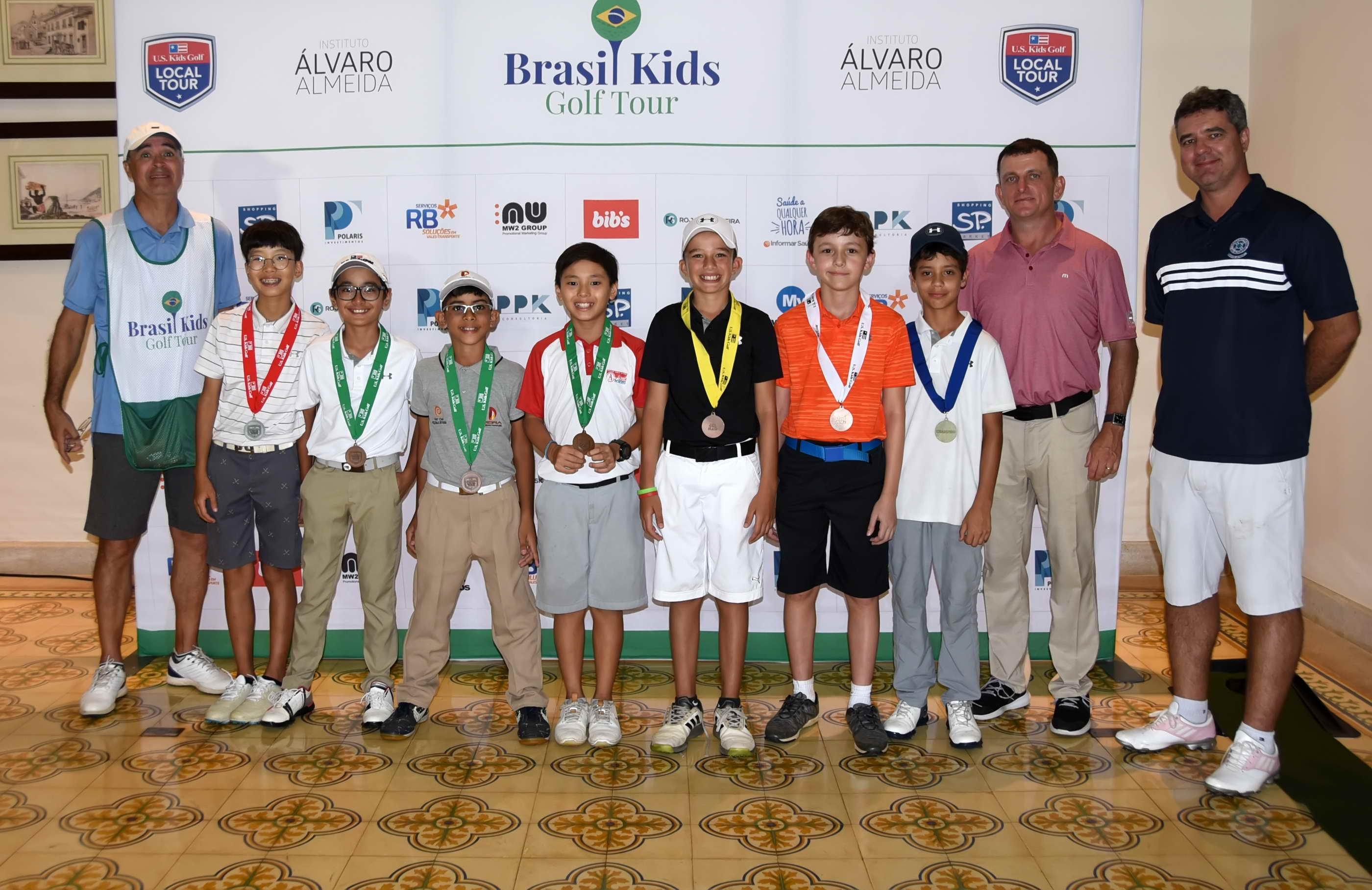 Brasil Kids Golf Tour tem sete duplos campeões nas rodadas da Grama e Baroneza