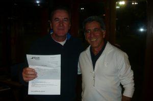 Edgar Rosa, ganhador do sorteio da estadia no Club Med oferecida pela Golf Travel, e Fernando Vieira