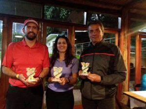 Scarpim, Fernanda e Geraldo, premiados categoria A