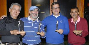 Campeões: Takeo, Carmona, Magalhães e Rodrigues Foto: Zeca Resendes