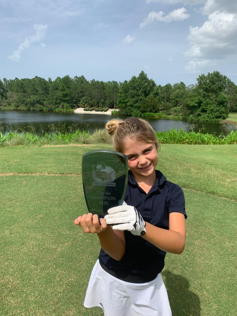 Golfista de 6 anos, Bella Simões é campeã do Florida State Invitation