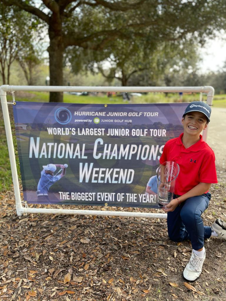Bento Assis é bicampeão do National Champion, etapa do Hurricane Junior Golf Tour