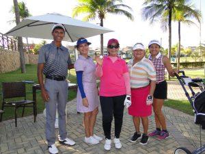 Alexandre Freitas e golfistas