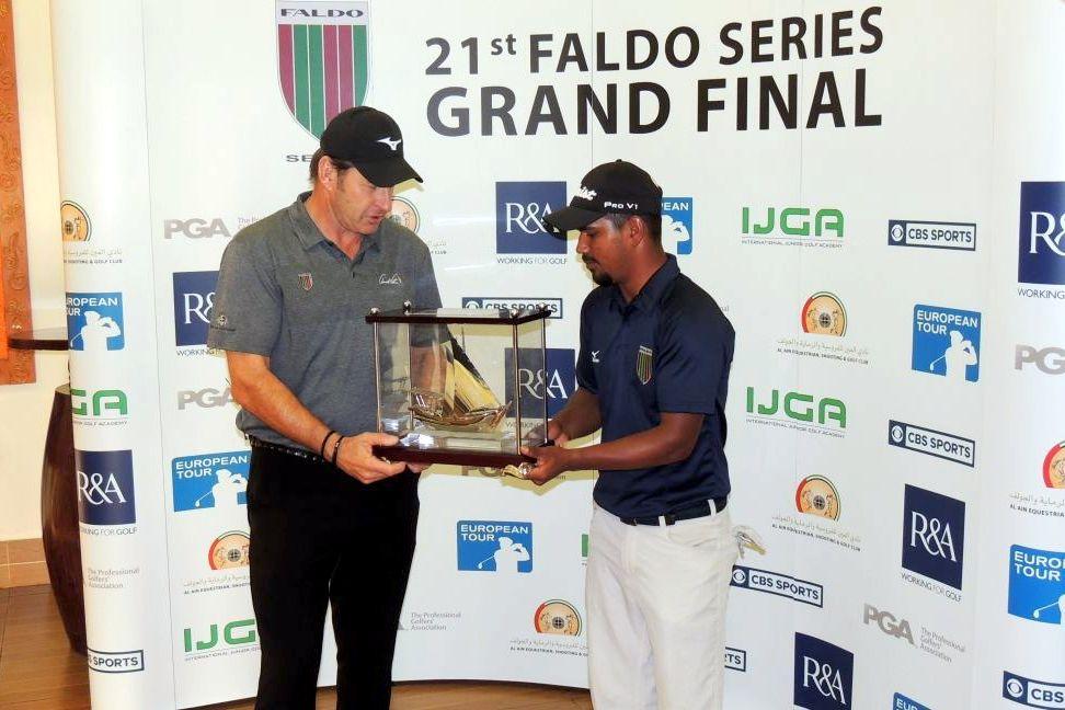 Campeão britânico Nick Faldo convida gaúcho Herik Machado para seu time