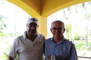 Gustavo Bellini, presidente do Lago Azul, e Durval Pedroso