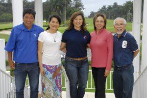 Luiz e Stela Miyagi, Dirce Shimomoto, Luzia Taninaga e Mario Shimabukuro