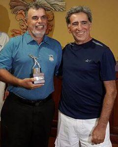 Silvio Cecin, campeão scratch, e Fernando Vieira