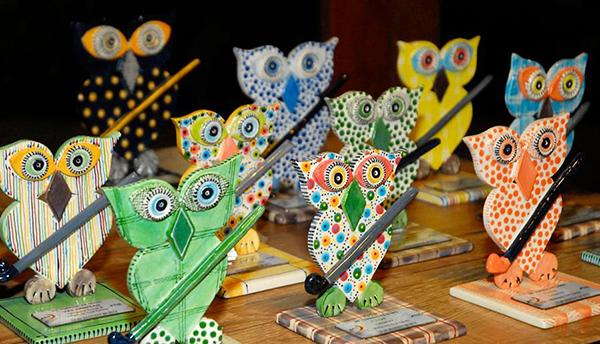 Troféus criados pela artista plástica Mônica Padovam Foto: Zeca Resendes