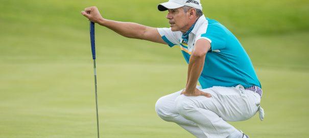 Profissional Adilson da Silva disputa o Vodacom Origins of Golf, na África do Sul