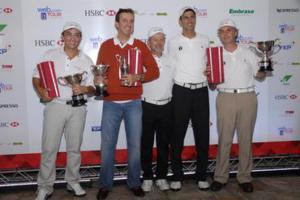 Vencedores do Pro-Am recebem troféus Foto: Zeca Resendes/CBG