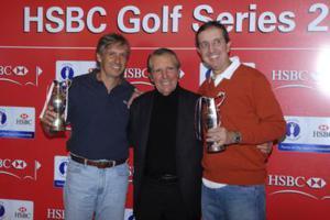 Vencedores do HSBC Series com Gary Player Foto: Zeca Resendes/CBG